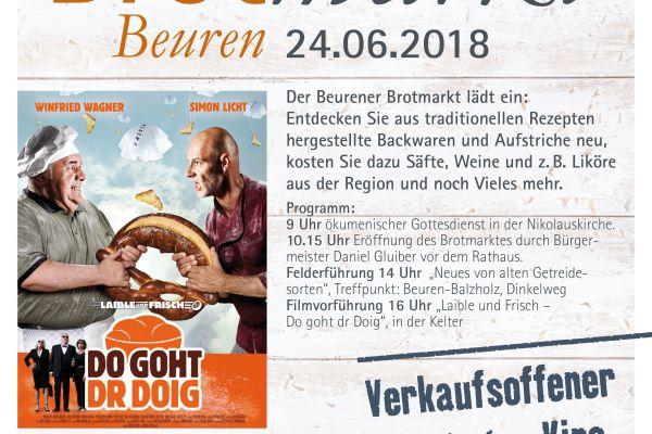 Brotmarkt in Beuren am 24.06.2018